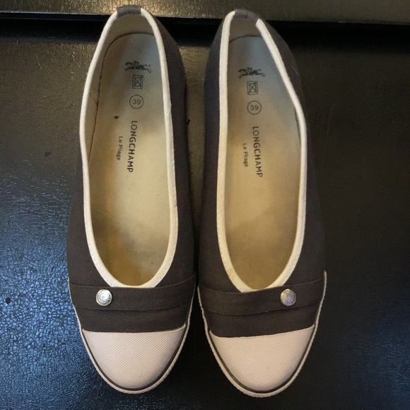 6d540cfa28af Longchamp Shoes - Longchamp Le Pliage logo sneaker flats A+condition